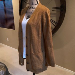 Soft rust colored pocket cardigan from Forever 21